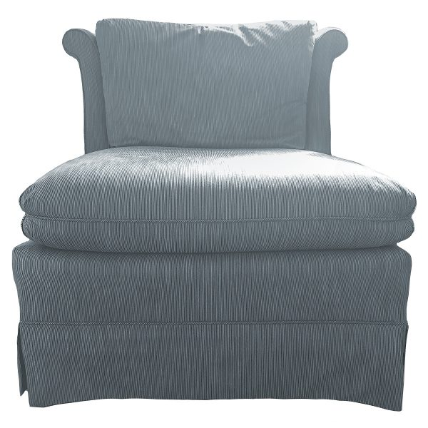 Vintage Blue Slipper Chair