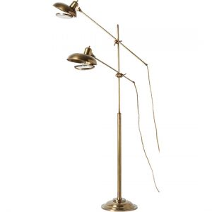 Brass Double Floor Lamp, Anthropologie