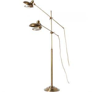 Brass Double Floor Lamp, Anthropologie