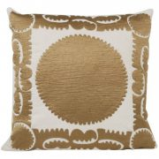 Embroidered Gold Medallion Pillow, Jayson Home
