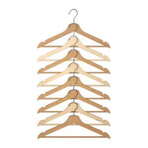 Wooden Bumerang Shirt Hangers, IKEA