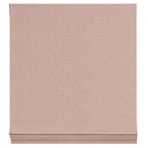 Cameo Pink Linen Roman Shade, The Shade Store