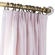 Tuscany Linen Pink Curtains