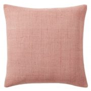 Silk Hand-Loomed Pillow, Rosette Pink, West Elm