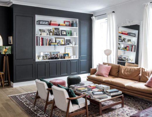 Parisian apartment of Morgane Sézalory, designer for Sézane - living room