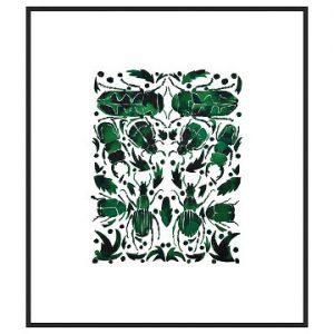 Emerald Beetles by Kate Roebuck, Artfully Walls