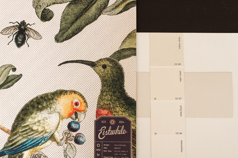 Milton & King Wallpaper with Paint Swatches