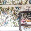 Article Walnut Shelves, Milton & King Wallpaper | Making it Lovely, One Room Challenge