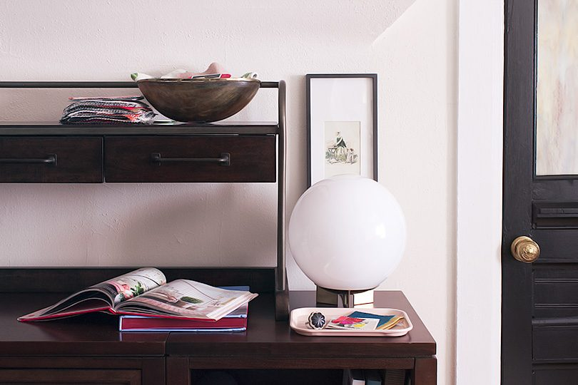 Pottery Barn Hutch with Modular Home Office Furniture, Martha Stewart Craft Collection   Making it Lovely, One Room Challenge