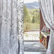 Blanched Flora Embroidered Sheer Curtains, Anthropologie