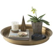 Round Brass Tray, Schoolhouse Electric