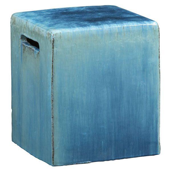 Carilo Blue Ceramic Garden Stool