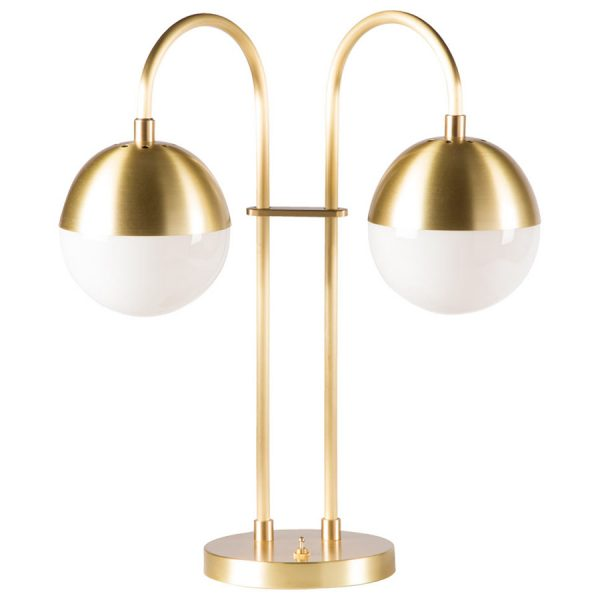 Cedar & Moss Brass Double Table Lamp