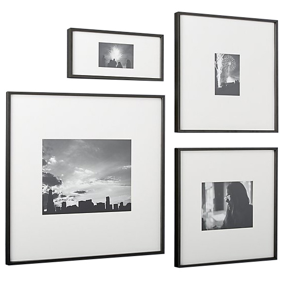 Gallery Carbon Black Picture Frames, CB2