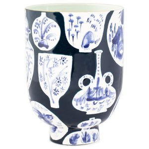 Pottery Freer House Slim Keith Delft Indigo Vase, Jill Rosenwald