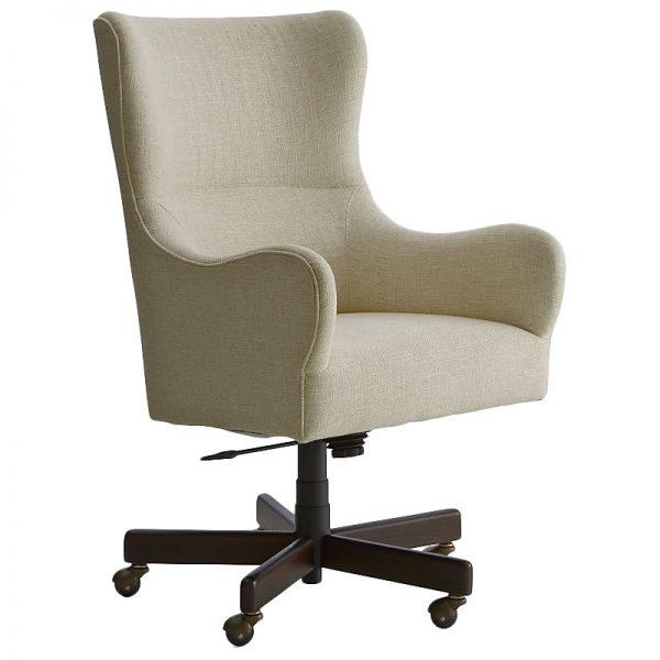 Liv Upholstered Wingback Office Desk Chair, Crate & Barrel