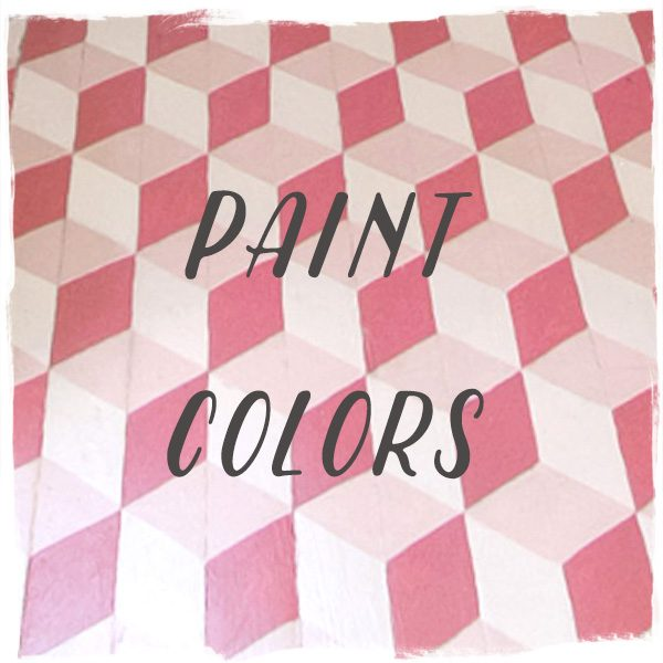 Paint Colors: DIY Tumbling Blocks — Puppy Paws, Odessa Pink, and Crimson, Benjamin Moore