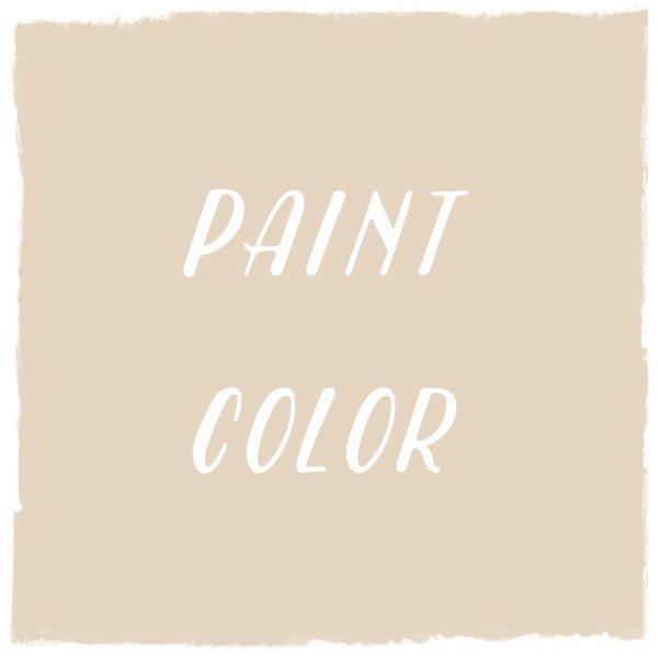 Paint Color: Brandy Cream, Benjamin Moore