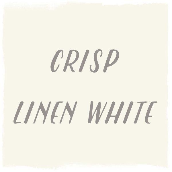 Paint Color: Crisp Linen White, Glidden