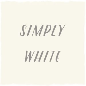 Paint Color: Simply White, Benjamin Moore