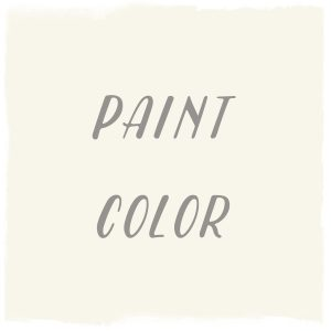 Paint Color: Crisp Linen White, Glidden