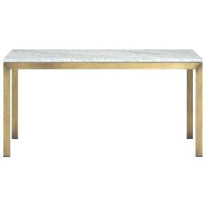 Parsons Marble and Brass Dining Table