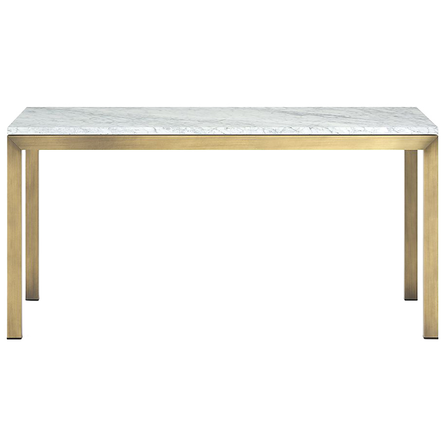 Parsons Marble And Br Dining Table Making It Lovely