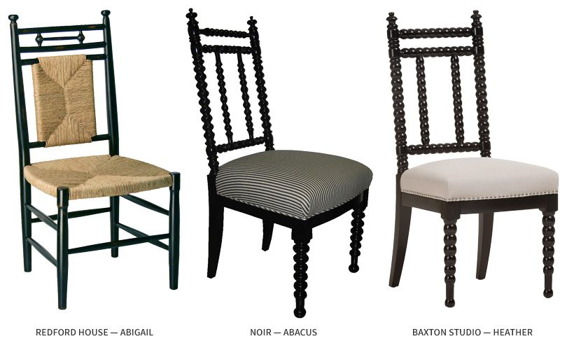Dining Chairs with Traditional Details