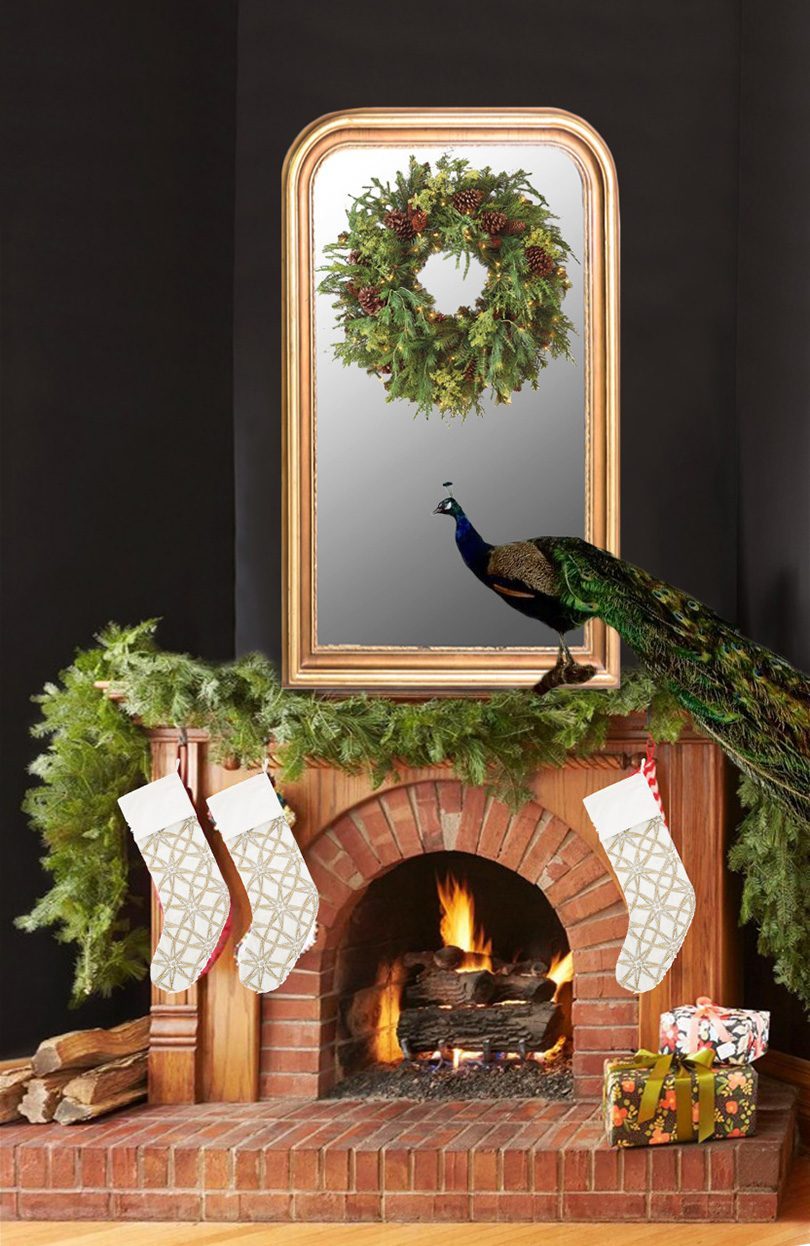 Christmas Fireplace Mockup