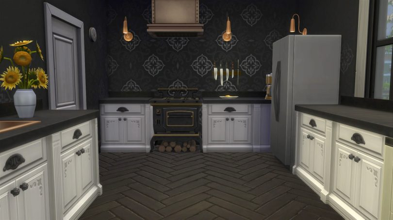 Kitchen — Sims 4 Pink Victorian House, Making it Lovely
