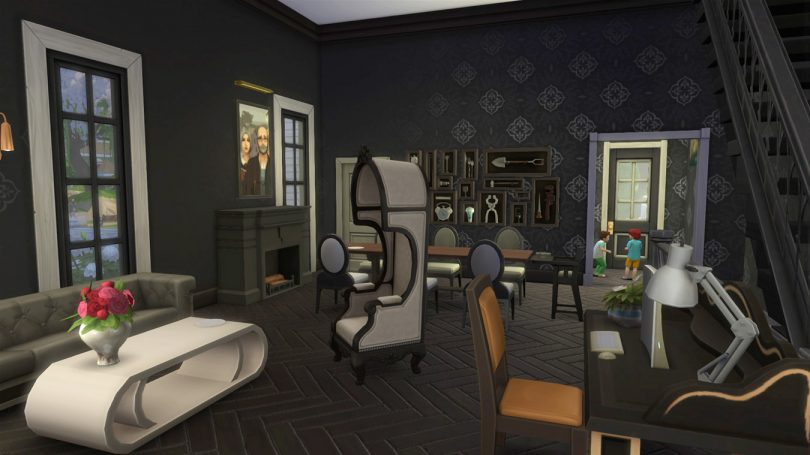 Living and Dining Room — Sims4 Pink Victorian House, Making it Lovely
