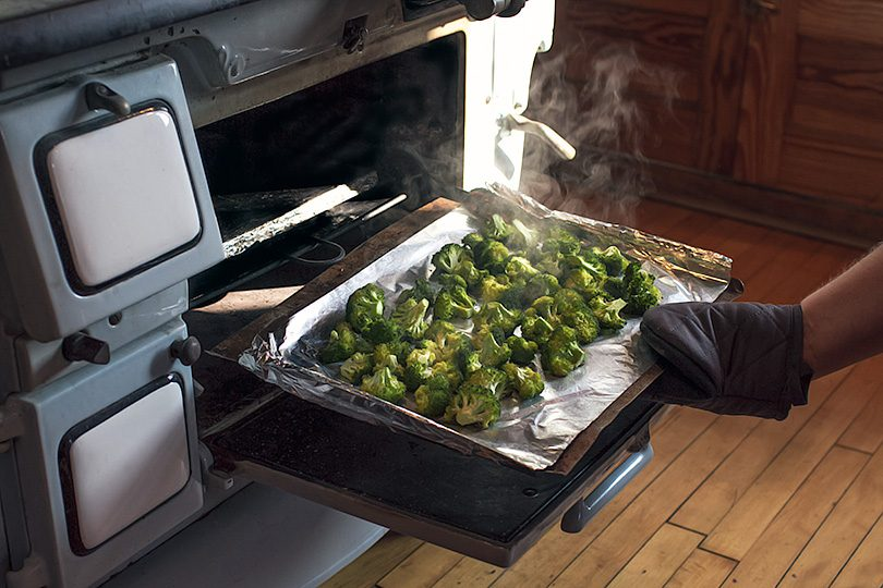 Roasted Broccoli from an Antique Stove (1918)