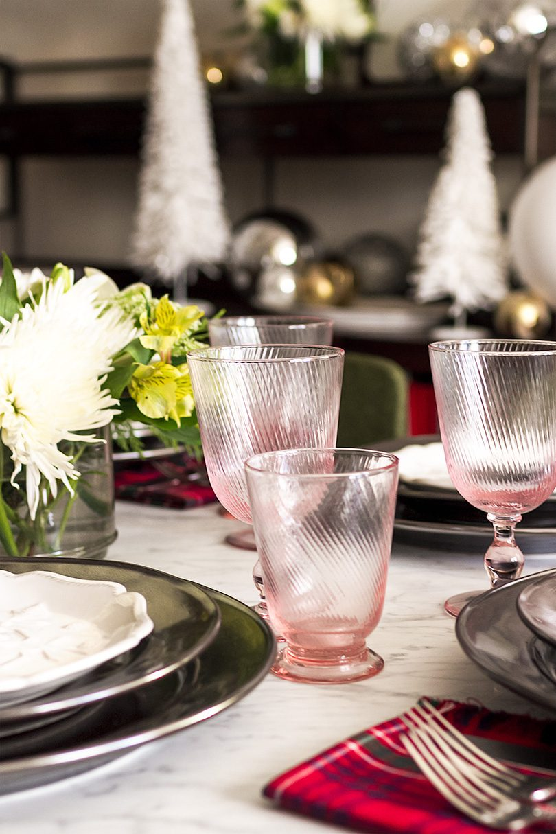 Arabella Petal Pink Footed Goblet and Tumbler by Juliska from CarefulPeach | Making it Lovely
