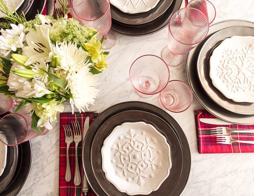 Christmas Tabletop Place Settings with Juliska from Careful Peach   Making it Lovely