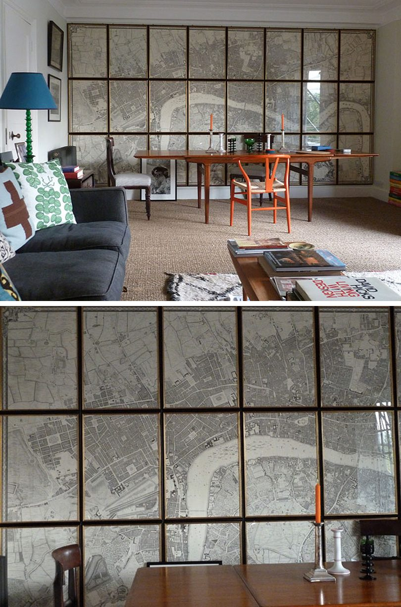 Ben Pentreath's Home with Framed London Map