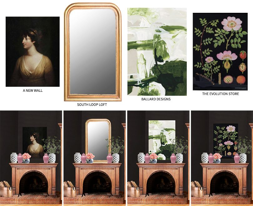 Large Art and Mirror Options