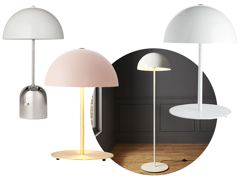 Pink and White Mushroom Lamps