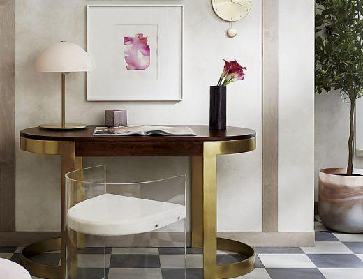 Hanna White Ceramic Table Lamp - CB2