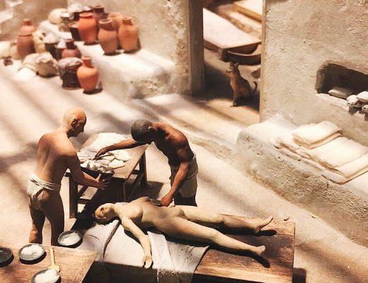 Egyptian Exhibit at the Field Museum - Miniature Mummification