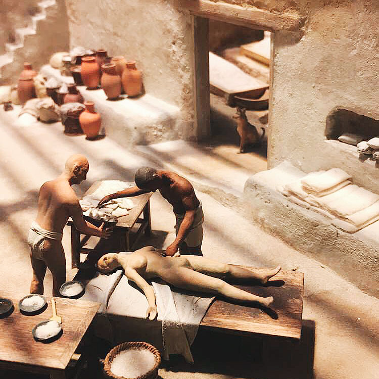 Egyptian Exhibit at the Field Museum - Miniature Mummification