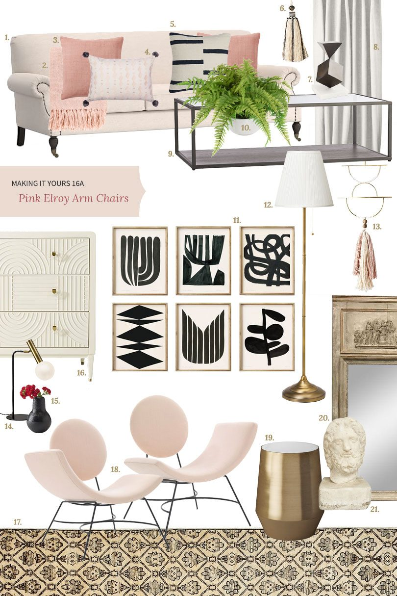 Making it Yours 16A: Pink Elroy Chairs | Making it Lovely