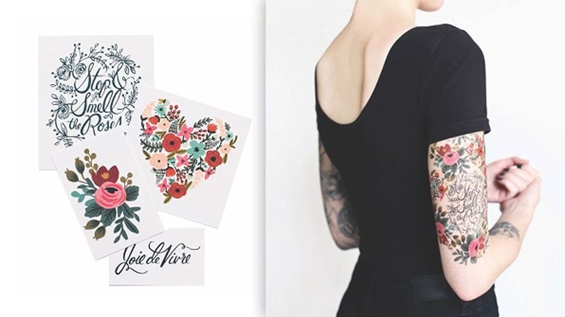 Rifle Paper Co - tattoos