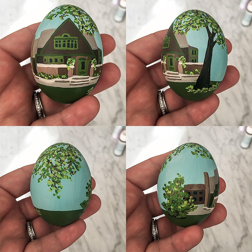 A Frank Lloyd Wright Easter Egg for Illinois | Nicole Balch of Making it Lovely for Food Network Magazine