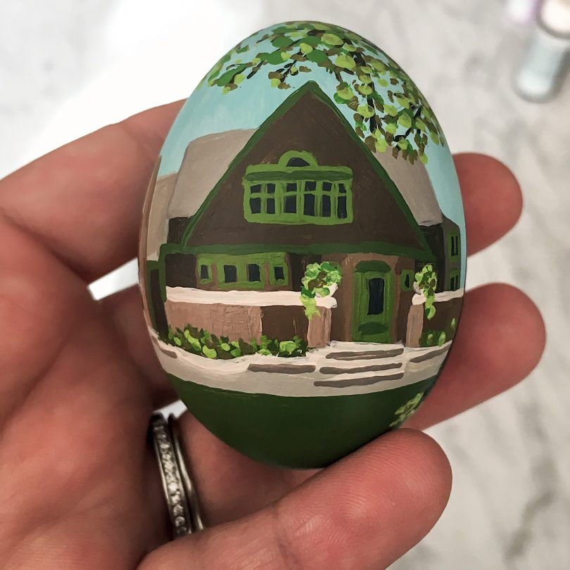 A Frank Lloyd Wright Easter Egg for Illinois (Front) | Nicole Balch of Making it Lovely for Food Network Magazine
