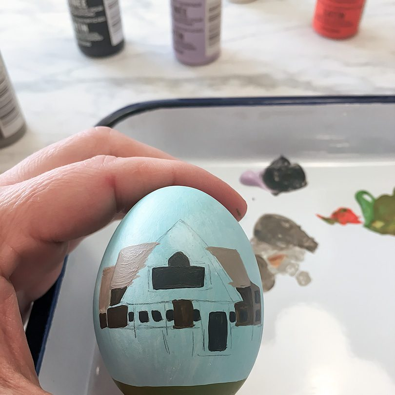 Painting a Ceramic Easter Egg