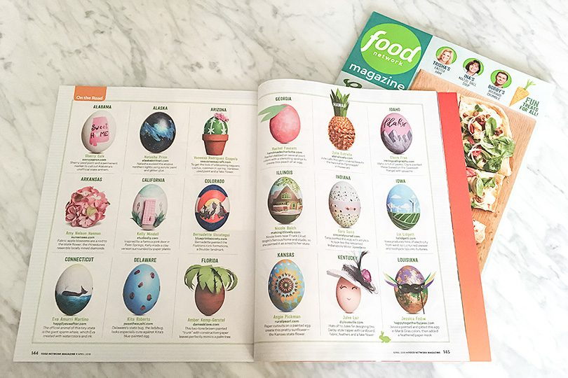 Easter Eggs for Each State in Food Network Magazine, April 2018