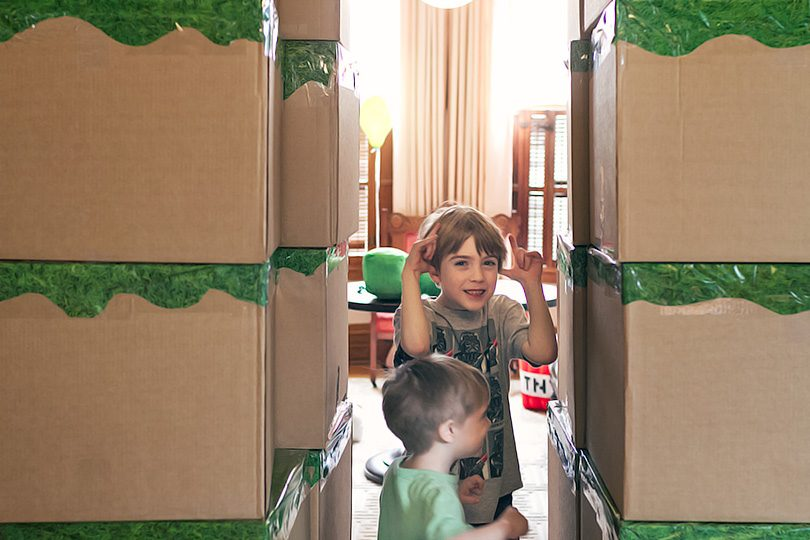 Minecraft Birthday Party - Blocks for a Fort!