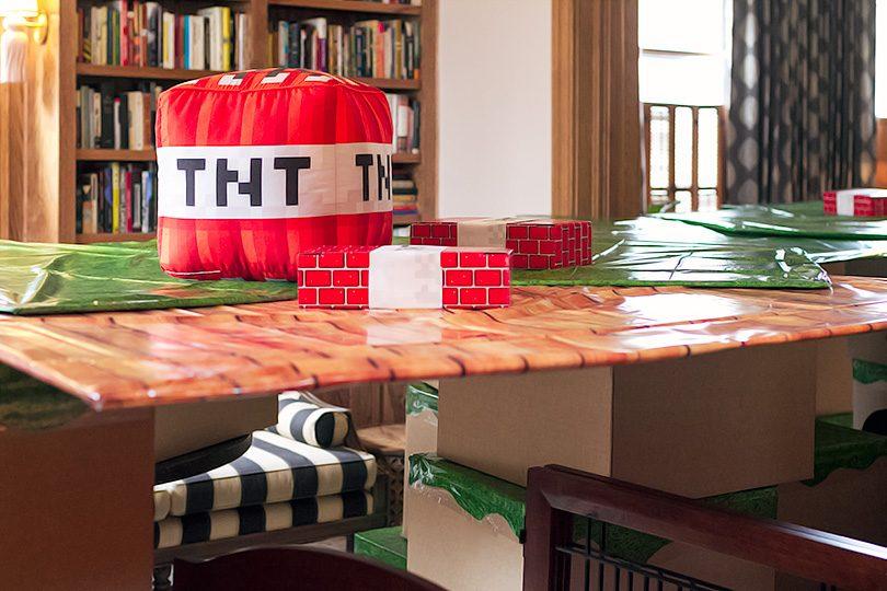 Minecraft Blocks Fort with TNT - Kid's Birthday Party