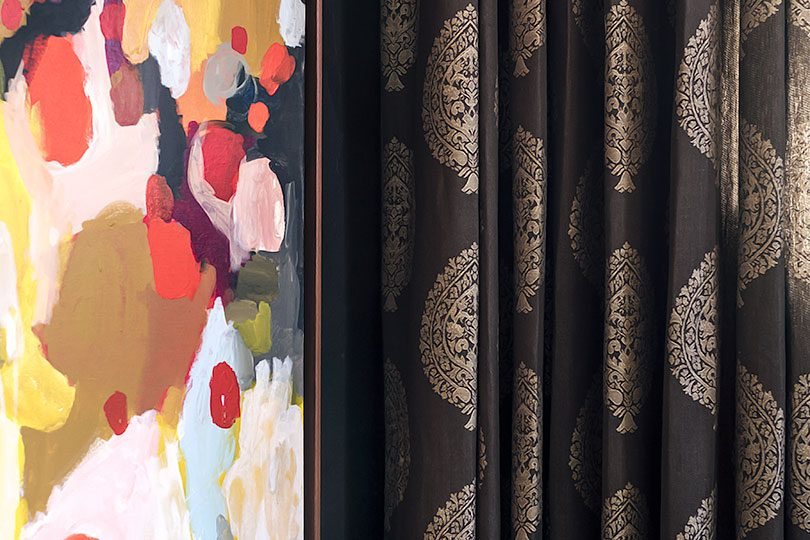 Detail of Custom Window Treatments from The Shade Store | Making it Lovely