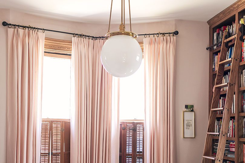 Tailored Pleat Custom Pink Linen Curtains from The Shade Store | Making it Lovely